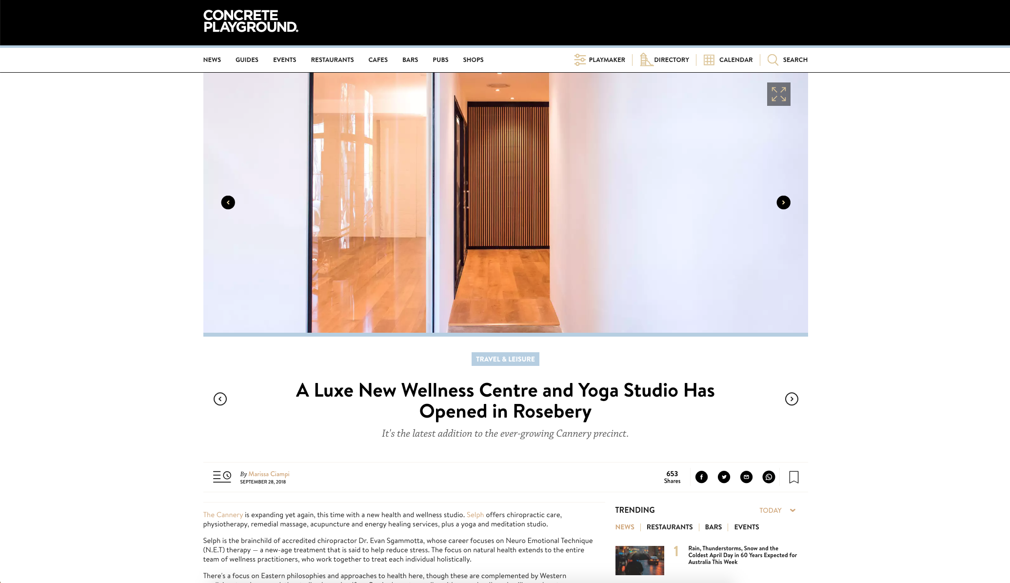 Concrete Playground - A luxe new wellness centre and yoga studio has opened in Rosebery - Selph Health Studios