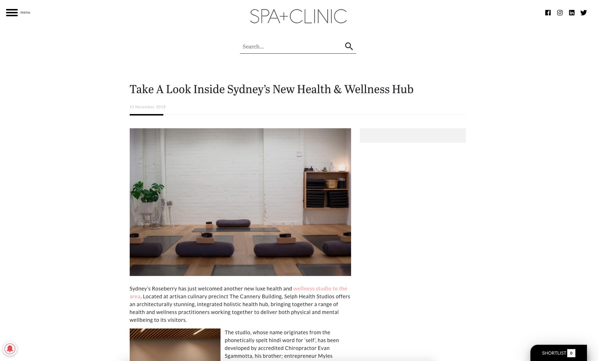 Take A Look Inside Sydney's New Health & Wellness Hub - Spa + Clinic - Selph Health Studios