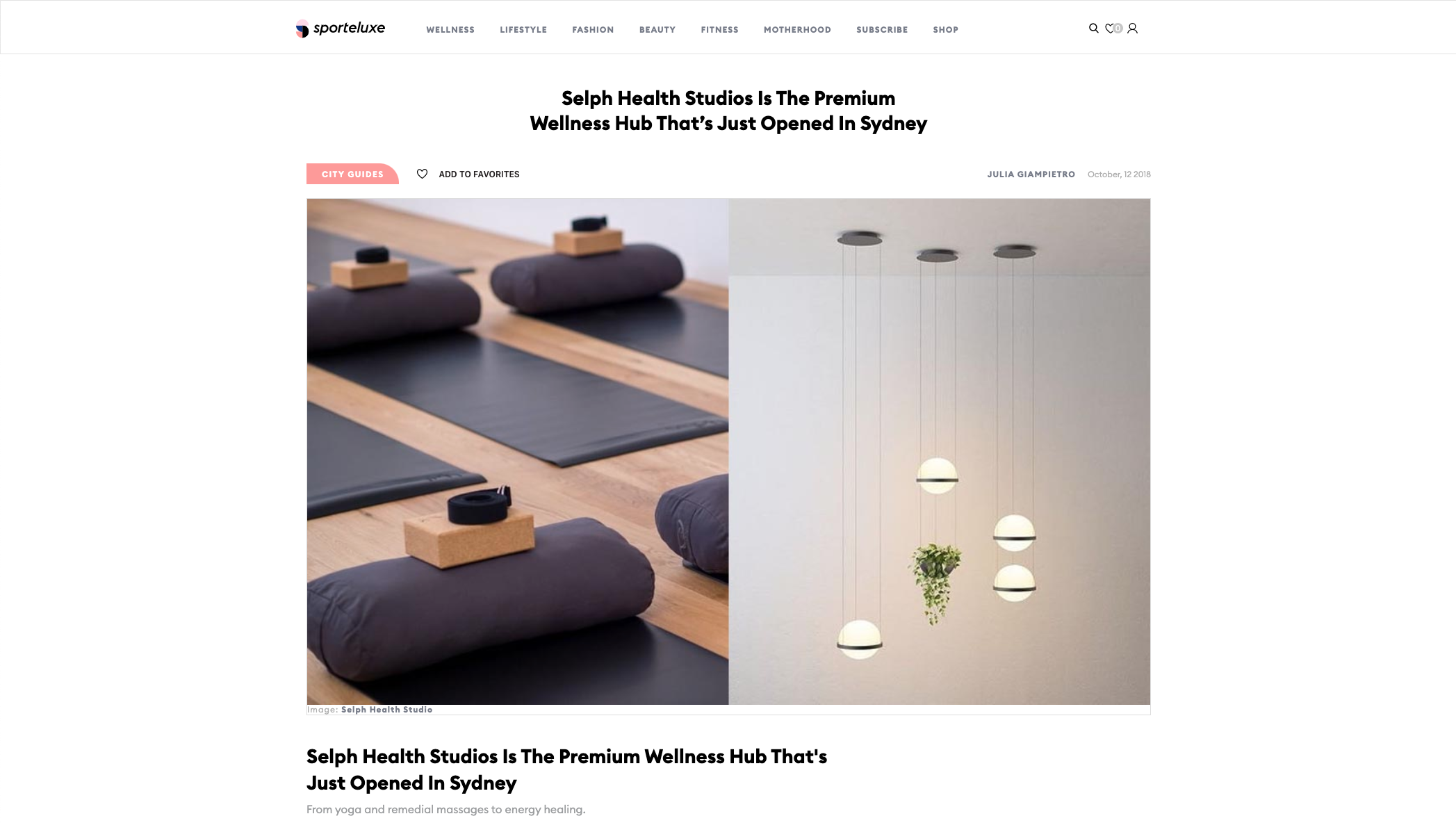 Selph Health Studios Is The Premium Wellness Hub That's Just Opened In Sydney