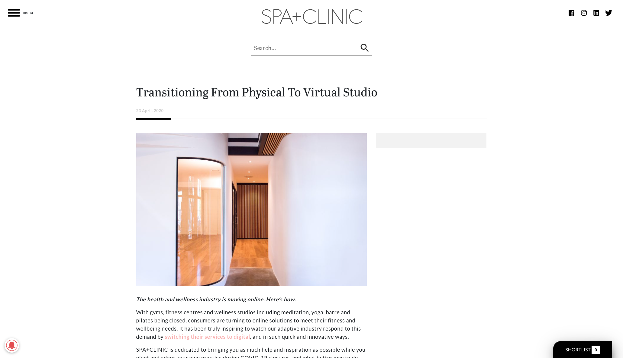 Transitioning to an online studio - Selph health studios